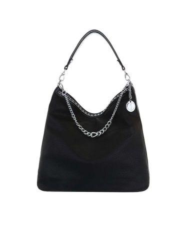 Micussi černá kabelka přes rameno CHAINS 7535-76 TA-7535-76-BK