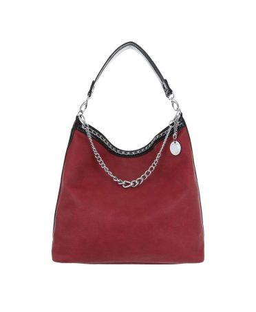Micussi červená kabelka přes rameno CHAINS 7535-76 TA-7535-76-RD