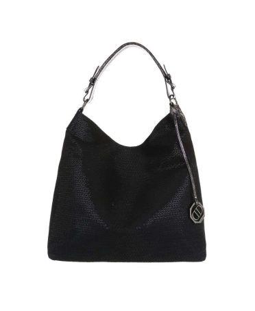 Dudlin Firenze černá velká shopper kabelka SHINE 8035-476 ta8035-476cj-BK