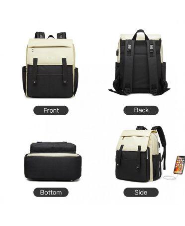 Kono mateřský přebalovací batoh nejen na kočárek černý s USB 1970 E1970_BK