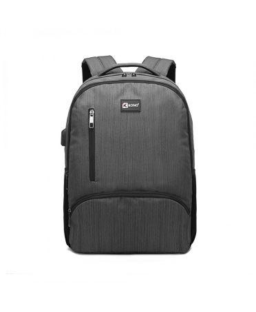 Kono voděodolný batoh šedý UNISEX s USB portem 1978 E1978_GY