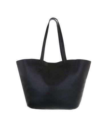 Dudlin Firenze černá shopper kabelka 2835-210 ta2835-210-bk