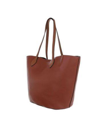 Dudlin Firenze hnědá shopper kabelka 2835-210 ta2835-210-bn