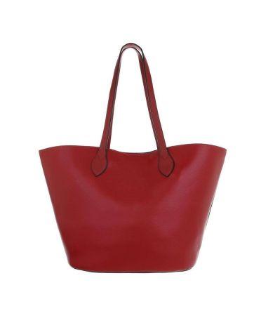 Dudlin Firenze červená shopper kabelka 2835-210 ta2835-210-rd