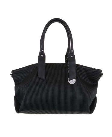 Micussi černá kabelka přes rameno LONGITUDINAL AND TEXTURE 3820-134 TA-3820-134-BK
