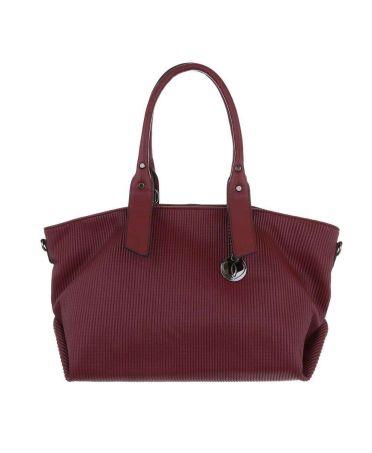 Micussi vínově červená kabelka přes rameno LONGITUDINAL AND TEXTURE 3820-134 TA-3820-134-WINE