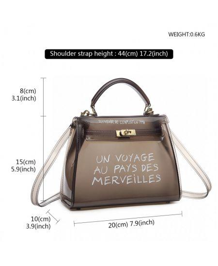 Miss Lulu hnědá crossbody kabelka VOYAGE 1905S E1905S_BK