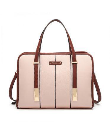 Miss Lulu růžová kabelka STRUCTURED PANEL 1949 LG1949_PK
