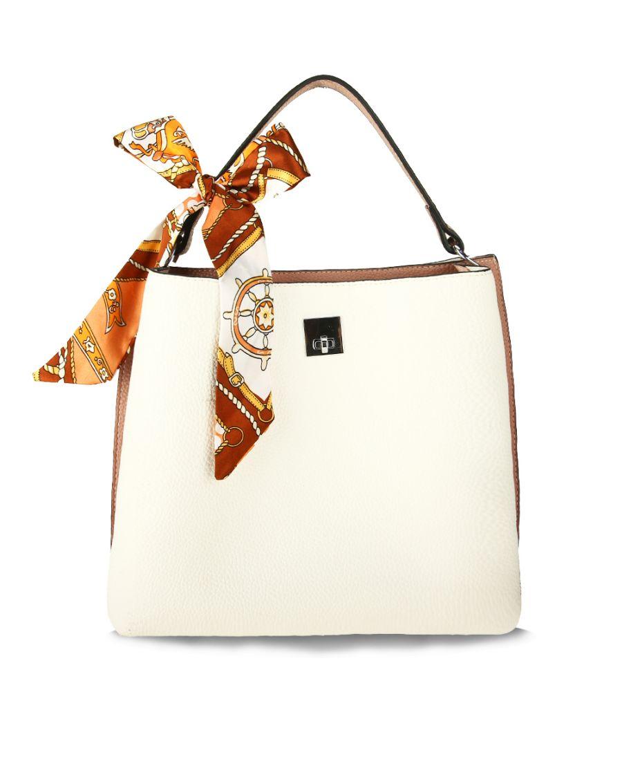 Anna Grace luxusní bílá kabelka přes rameno 682A AG00682A_WHITE_PINK