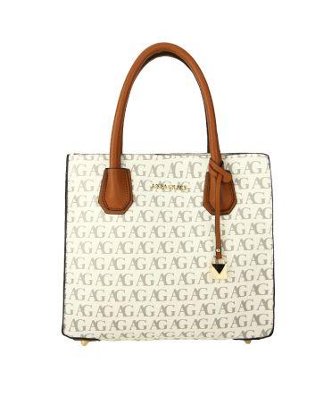 Anna Grace bílá kabelka s potiskem AG PRINT 738 AG00738_WHITE