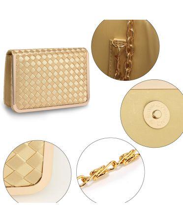 Anna Grace větší psaníčko ve zlaté barvě 369 AGC00369_GOLD