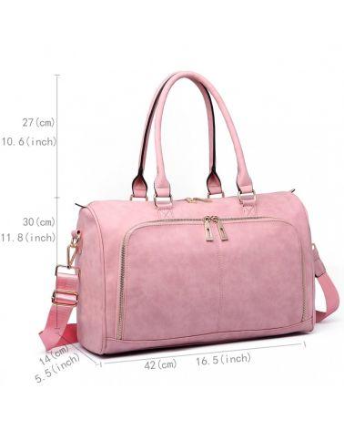 Miss Lulu sada mateřských tašek vhodná na kočárek růžová 6638 LT6638_PK
