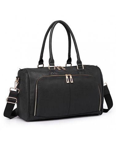 Miss Lulu sada mateřských tašek vhodná na kočárek černá 6638 LT6638_BK