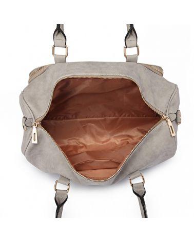 Miss Lulu sada mateřských tašek vhodná na kočárek světle šedá 6638 LT6638_LGY