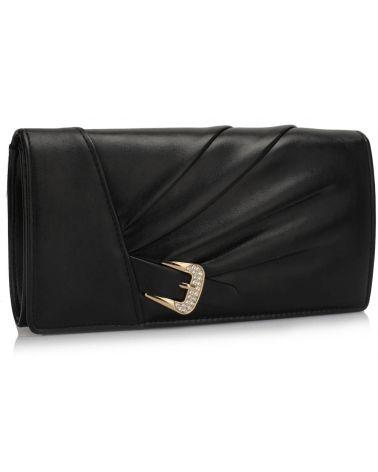 LS Fashion černé psaníčko Sparkly Crystal Satin 304 LSE00304_BK