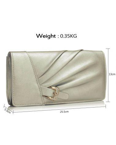 LS Fashion stříbrné psaníčko Sparkly Crystal Satin 304 LSE00304_SR