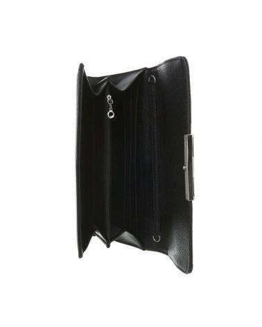 Dudlin černé psaníčko se stříbrnými detaily 9386 ta-fld9386_BK