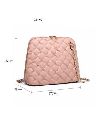 Miss Lulu růžová kabelka crossbody QUILTED 6920 LB6920_PK