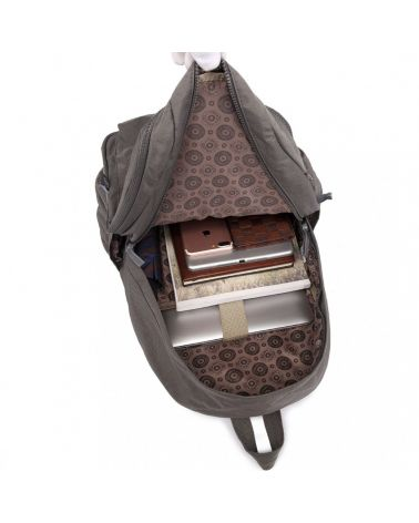 Miss Lulu nylonový voděodolný batoh šedý MULTI COMPARTMENT 1733 E1733_GY
