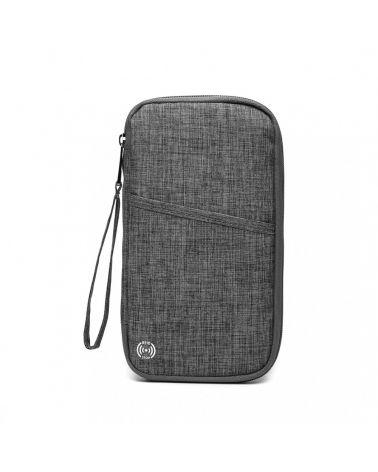 Miss Lulu peněženka - pouzdro na mobil a doklady šedá 1968 E1968_GY