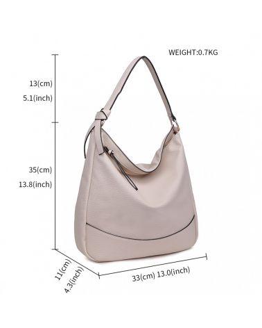 Miss Lulu velká hobo kabelka béžová 1761 S1761_BG