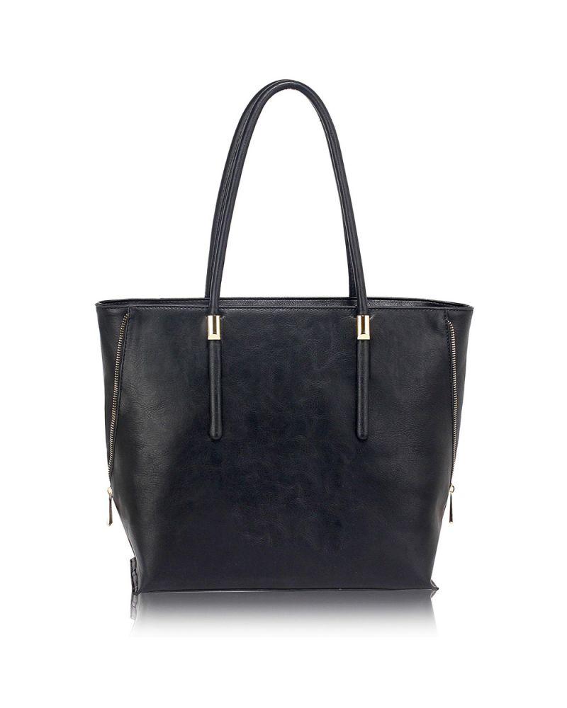 Anna Grace černá shopper kabelka 494 AG00494_BLACK