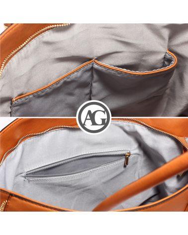 Anna Grace hnědá shopper kabelka 494 AG00494_BROWN