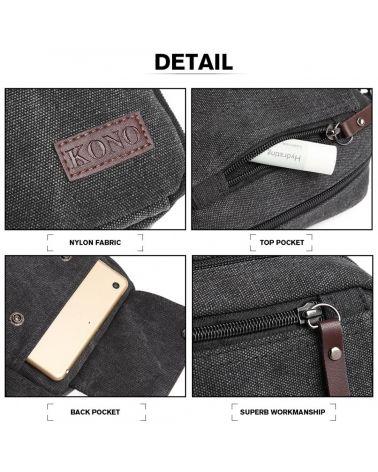 Kono černá pánská crossbody taška MULTI POCKET 1971 E1971_BK