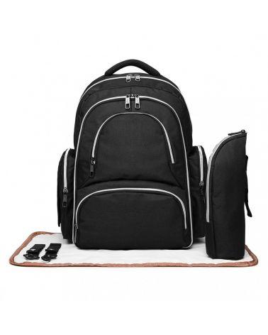 Miss Lulu SET černý mateřský přebalovací batoh 6706 E6706_BK