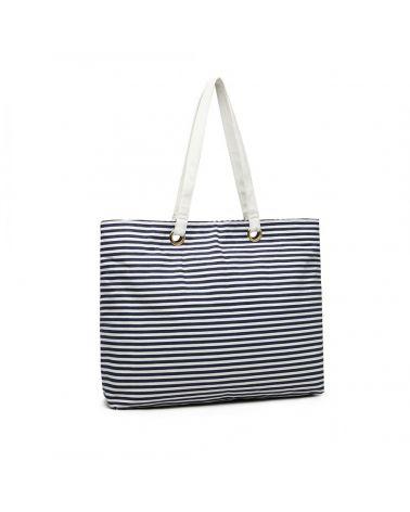 Kono modrá proužkovaná plátěná taška 2002 EB2002_NY