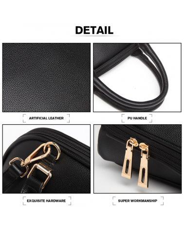 Miss Lulu černá kabelka CLASSIC BOWLER 6922 LT6922_BK
