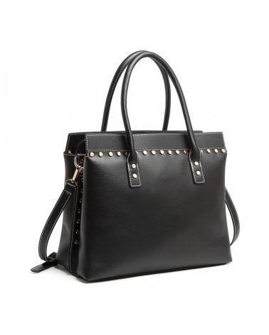 Miss Lulu černá elegantní kabelka 1974 LG1974_BK