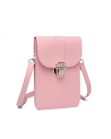 Miss Lulu růžová multifunkční mini kabelka 2034 LP2034_PK