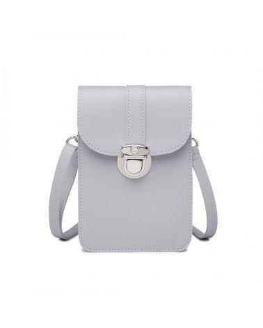 Miss Lulu šedá multifunkční mini kabelka 2034 LP2034_GY