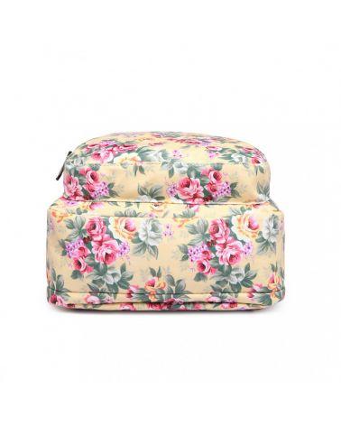 Miss Lulu béžový květovaný batoh 1658 LG1658_BG