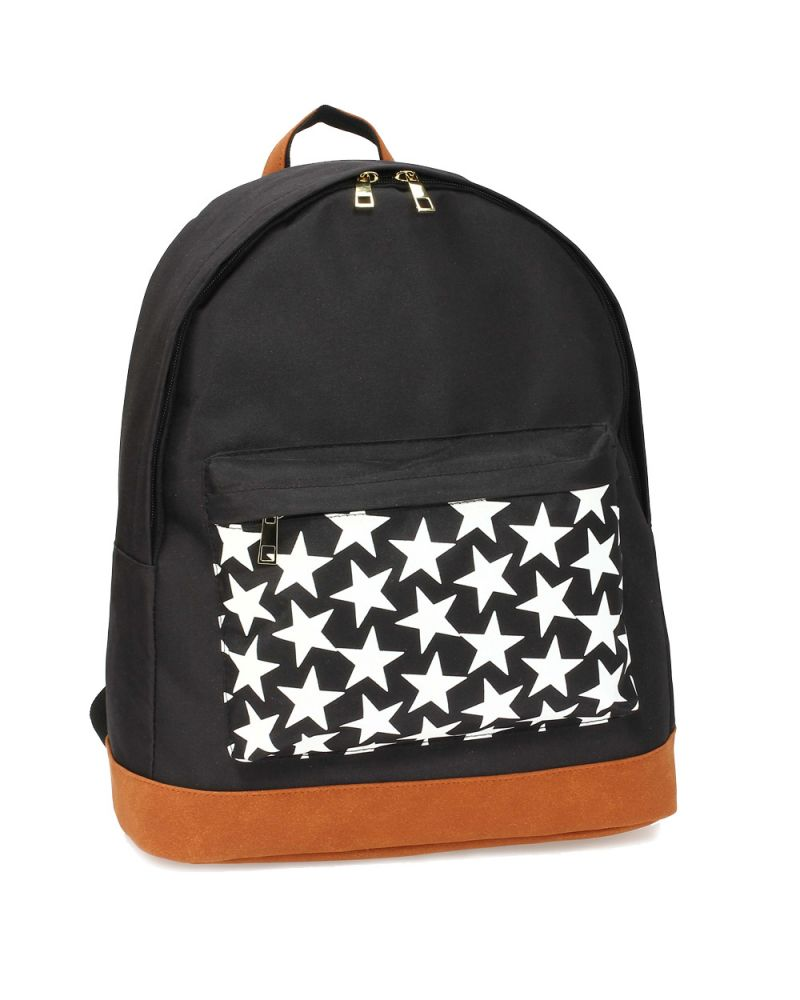 Anna Grace černý školní batoh STARS 620A AG00620A_BLACK