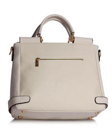 LS Fashion bílá kabelka Twist Lock Flap AG00237A LS00237A_WHITE