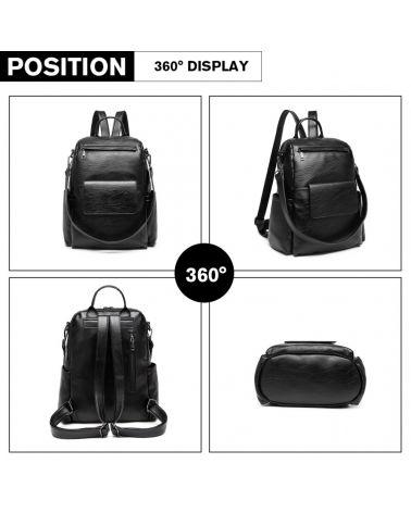Miss lulu velký černý dámský batoh 2012 LH2012_BK
