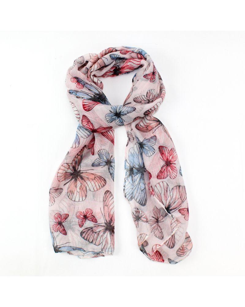 FJ Collection růžový dámský maxi šátek 4202 XB4202C07_PINK