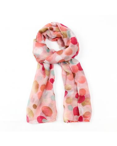 FJ Collection růžový dámský maxi šátek 4209 XB4209C07_PINK