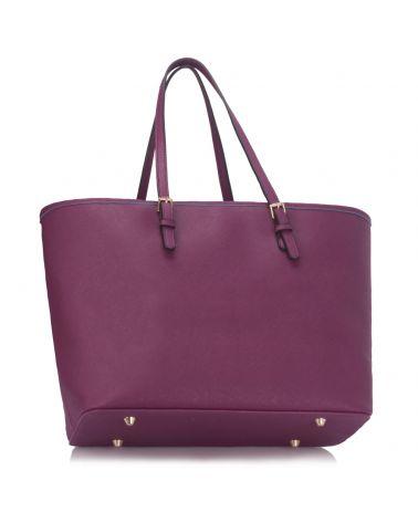 LS London fialová kabelka shopper velká 297 LS00297_PURPLE