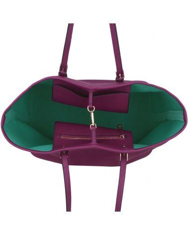 LS Fashion fialová kabelka shopper velká 297 LS00297_PURPLE
