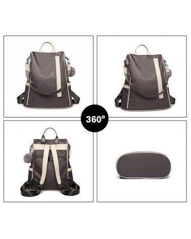 Miss Lulu šedý batůžek a kabelka 2v1 se zadním vstupem LG6917_GY