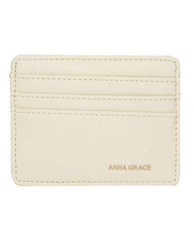 Anna Grace světle béžové dámské pouzdro na karty 1120 AGP1120_IY
