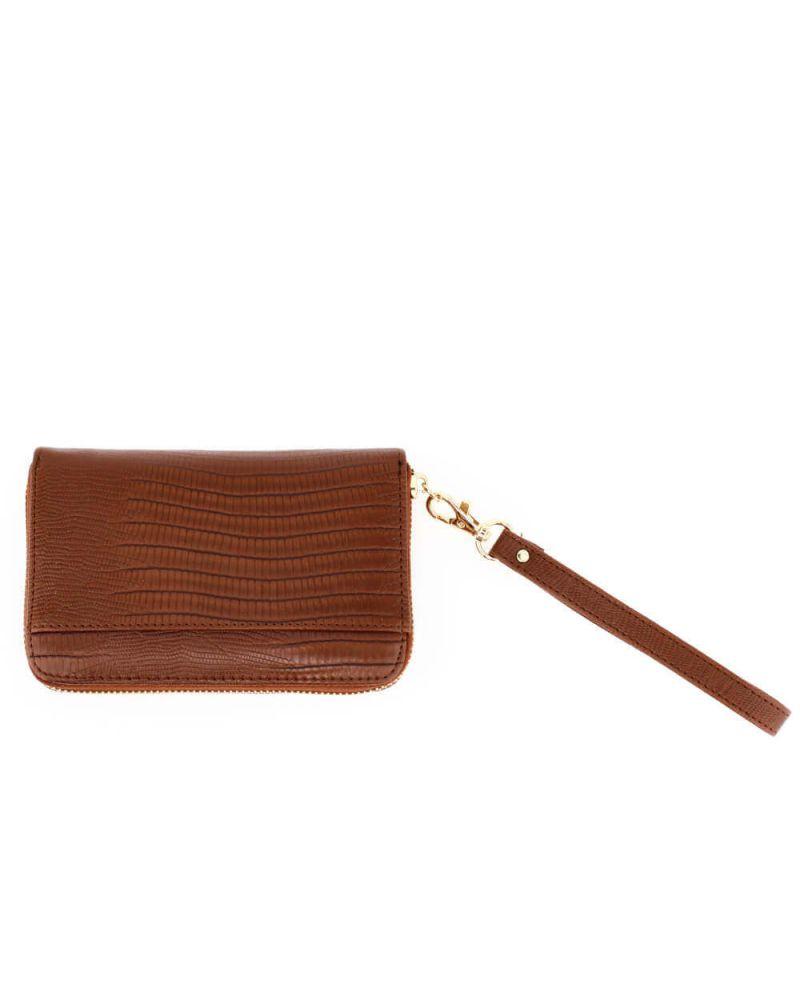 Anna Grace dámská peněženka s poutkem malá hnědá 1088 AGP1088_BN