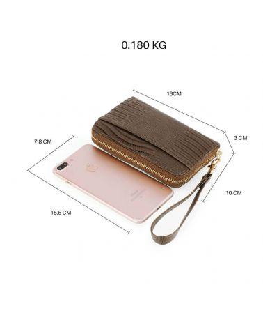 Anna Grace dámská peněženka s poutkem malá kávově hnědá 1088 AGP1088_CE