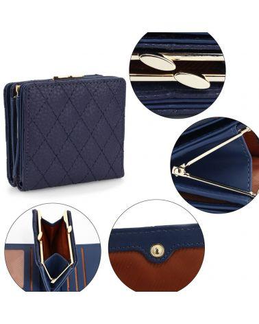 Anna Grace dámská peněženka prošívaná malá tmavě modrá 1084 AGP1084_NY