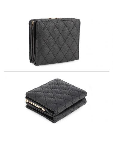 Anna Grace dámská peněženka prošívaná malá černá 1084 AGP1084_BK