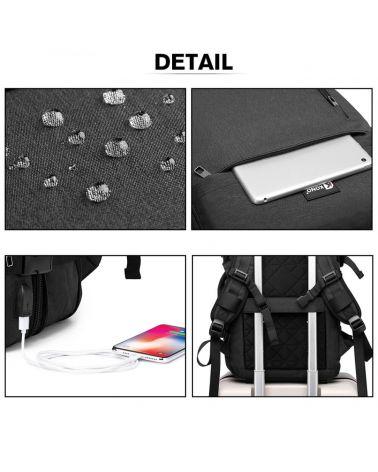 Kono černý cestovní batoh unisex EXPANDABLE 2014 E2014_BK