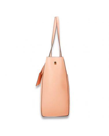 Anna Grace růžová nude shopper kabelka přes rameno 760 AG00760_NE
